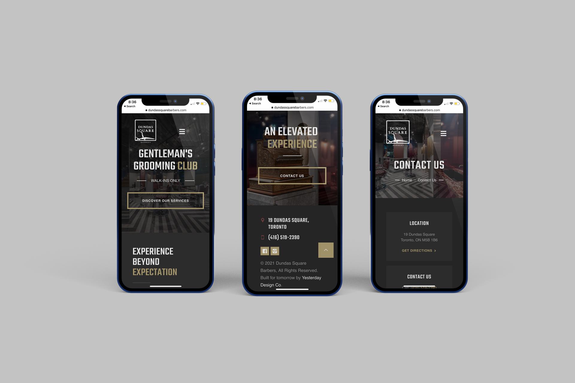 Mobile Barber Website Design