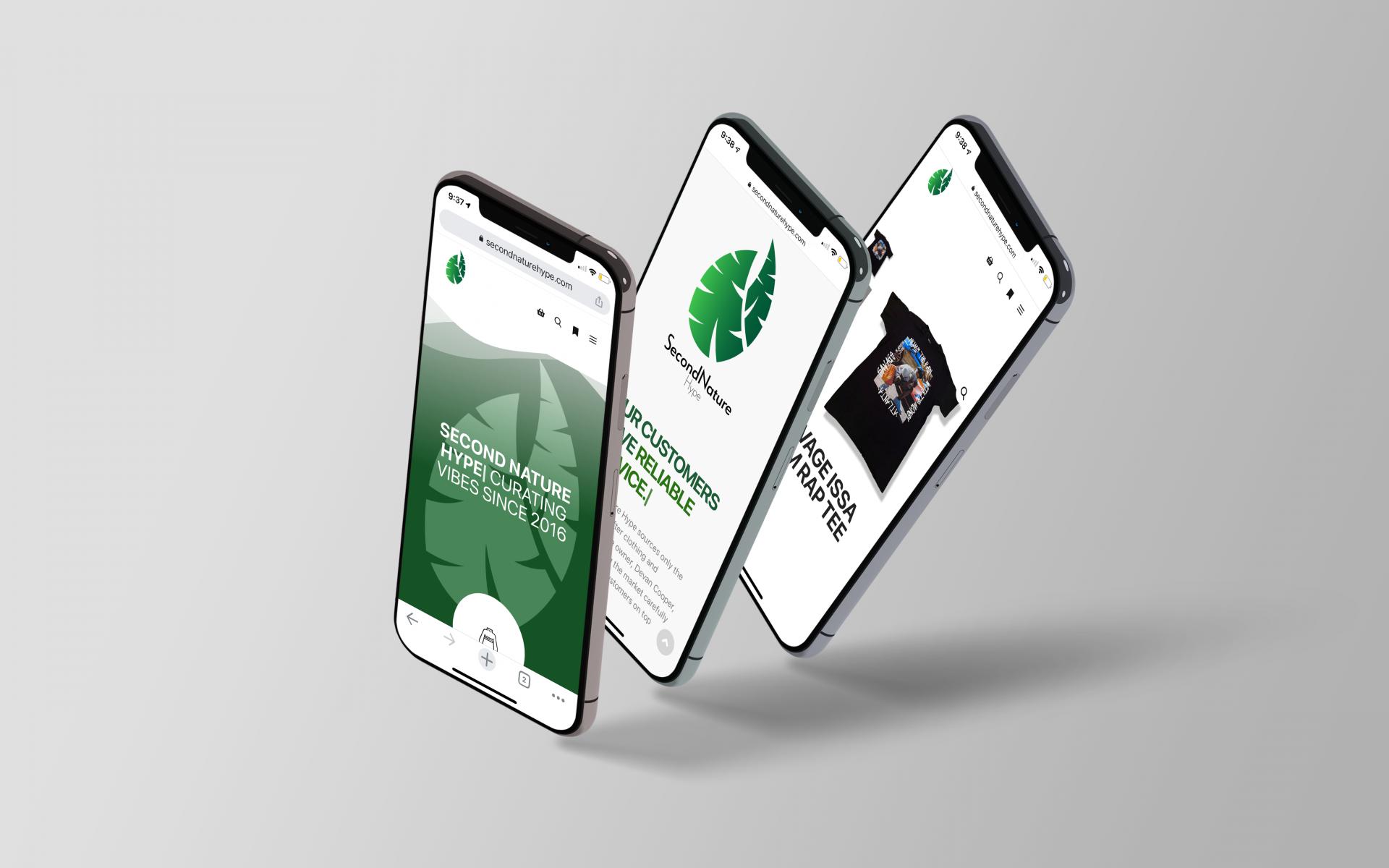 Second Nature Hype Website Design