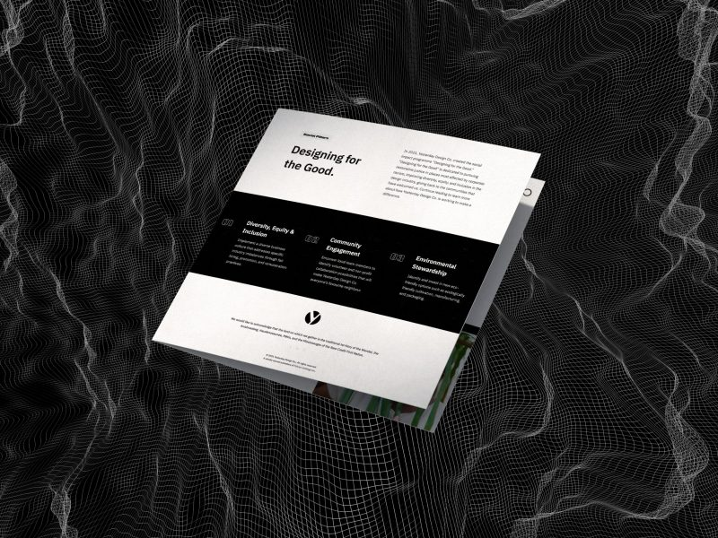 Designing for the Good Brochure